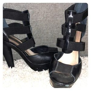 51f391ae5be Black Steven By Steve Madden Platform Heels on Poshmark